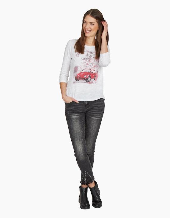 MY OWN Shirt mit Autoprint und Paillettenbesatz | ADLER Mode Onlineshop