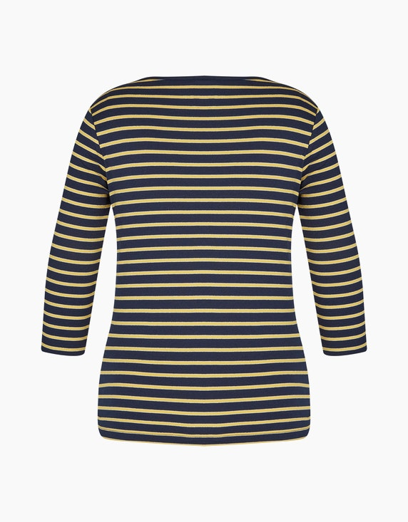 Bexleys woman Basic-Shirt mit feinem silber-Streifen | ADLER Mode Onlineshop