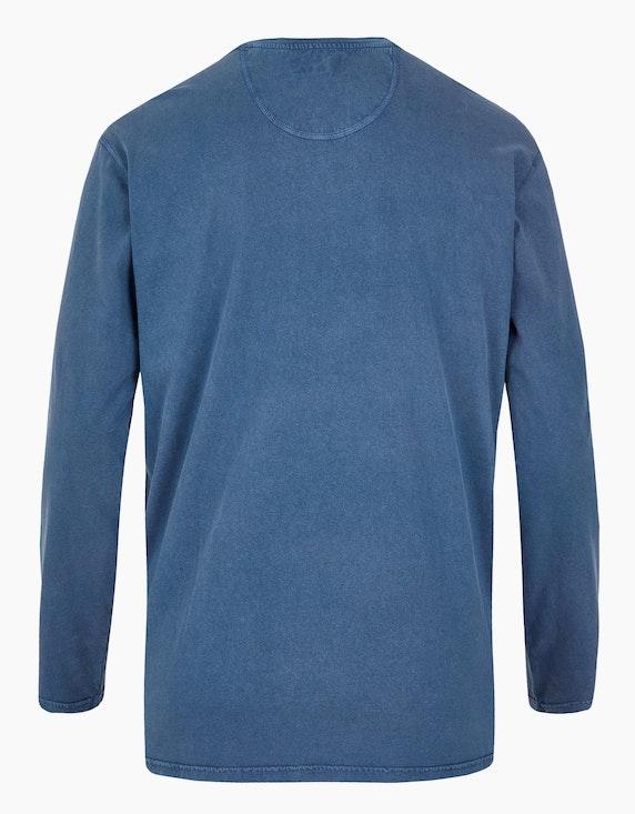 Big Fashion Langarmshirt mit Knopfleiste und Print   ADLER Mode Onlineshop