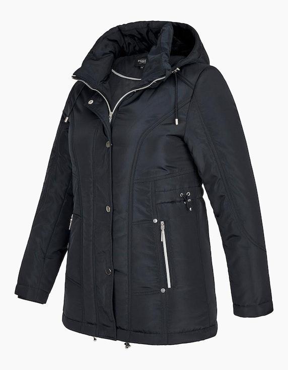 Bexleys woman Jacke mit silberfarbenen Accessoires und Fellimitat-Futter | ADLER Mode Onlineshop