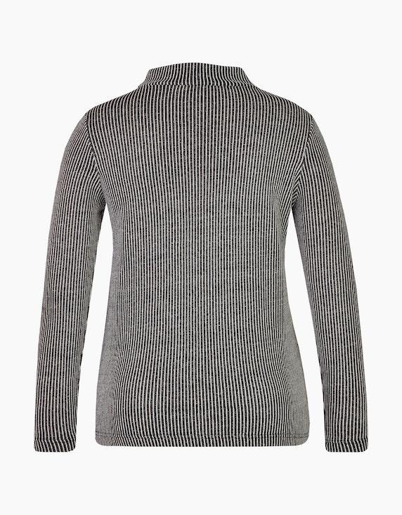 Bexleys woman Jacquard Shirt mit Stehkragen | ADLER Mode Onlineshop