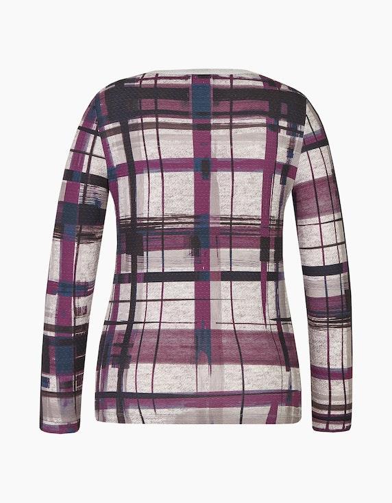 Bexleys woman Shirt mit Struktur uns ausgefallenem Karo-Druck | ADLER Mode Onlineshop