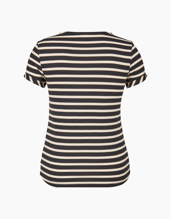 Bexleys woman Gestreiftes T-Shirt mit Strassbesatz | ADLER Mode Onlineshop