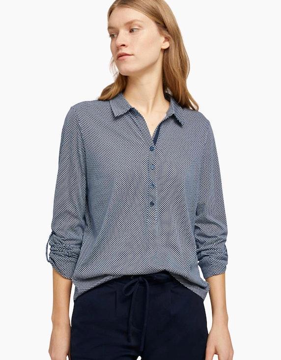 Tom Tailor Gemustertes Henley-Shirt   ADLER Mode Onlineshop
