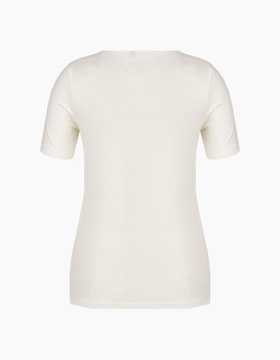 Bexleys woman T-Shirt mit Brustdruck mit metallic Details | ADLER Mode Onlineshop