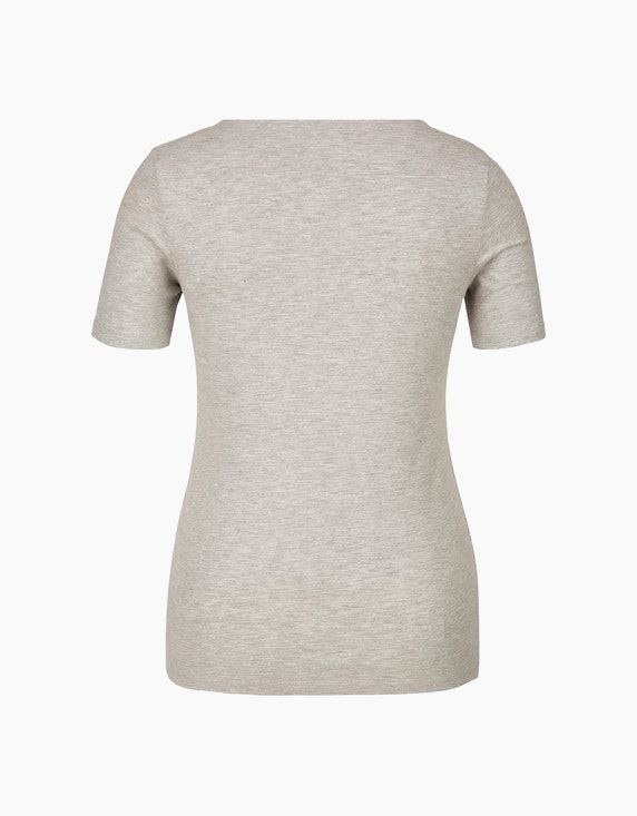 Bexleys woman T-Shirt mit Brustdruck mit metallic Details | ADLER Mode Onlineshop