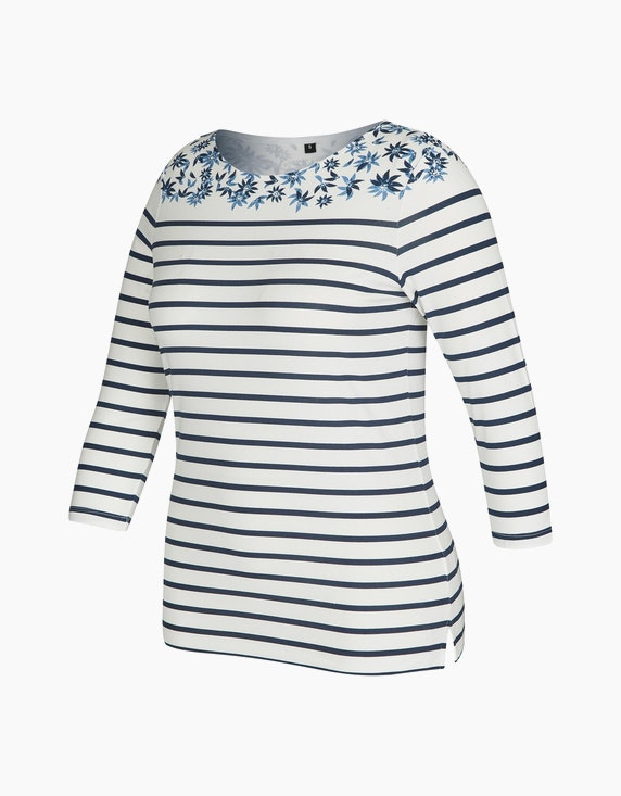 Bexleys woman Gestreiftes Shirt mit Ärmeln in 3/4-Länge | ADLER Mode Onlineshop