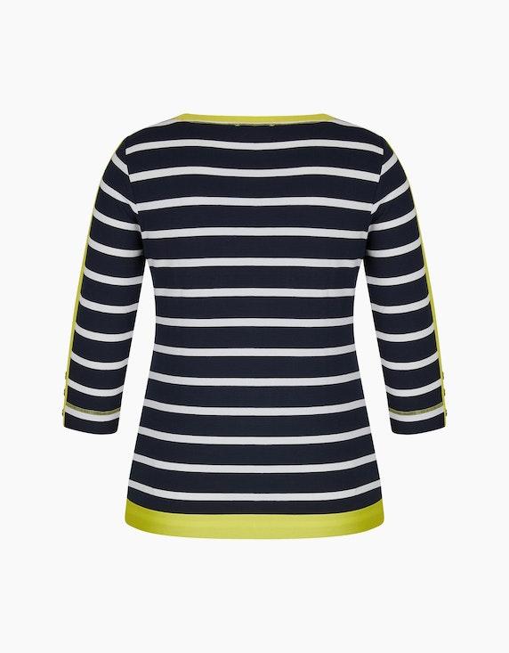 Steilmann Woman Shirt mit Breton-Streifen und Kontrastdetails | ADLER Mode Onlineshop