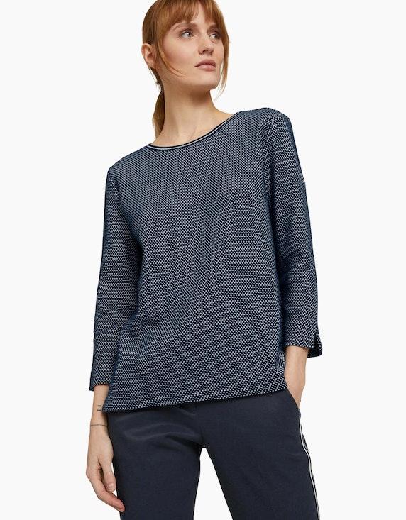 Tom Tailor Strukturiertes Sweatshirt mit Seitenschlitzen | ADLER Mode Onlineshop