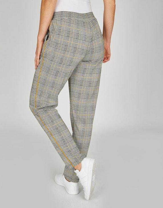 Steilmann Woman Jacquard-Hose mit Karo-Muster | ADLER Mode Onlineshop