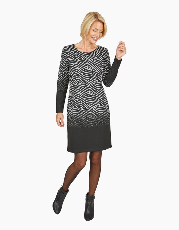Steilmann Woman Jacquard-Kleid im Zebra-Look | ADLER Mode Onlineshop