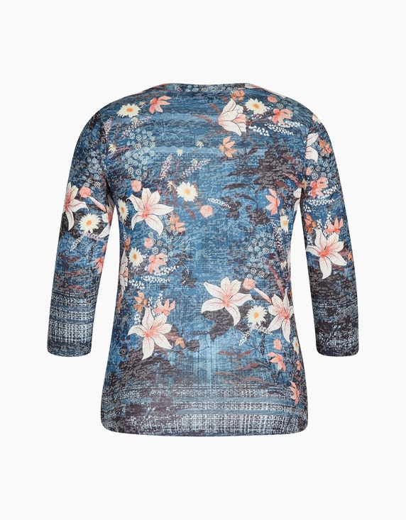 Bexleys woman Shirt im Mustermix mit Ärmel in 3/4-Länge | ADLER Mode Onlineshop