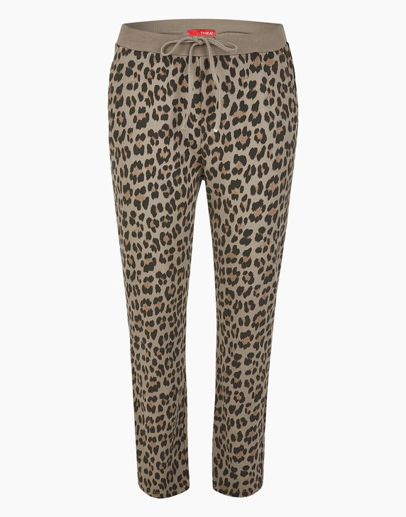 Thea Joggpants im Leo-Look, Baumwoll-Stretch | ADLER Mode Onlineshop
