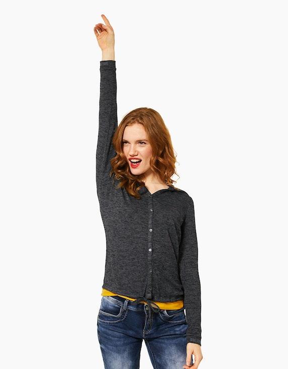 Street One Shirtjacke in Melange-Optik | ADLER Mode Onlineshop