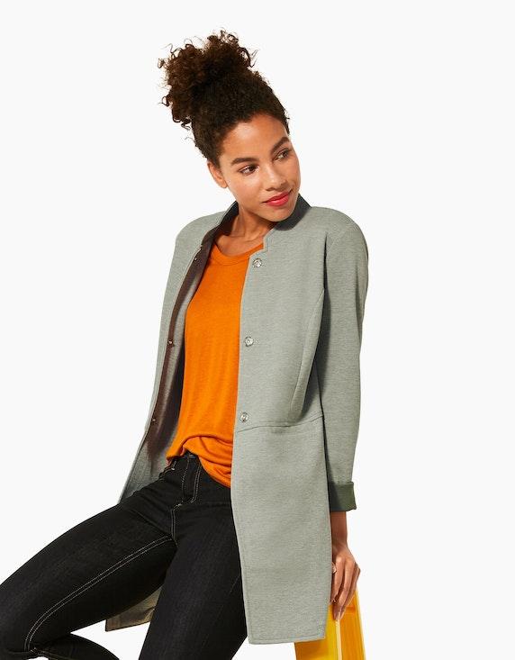 Street One Jersey-Mantel in Piqué mit Stehkragen | ADLER Mode Onlineshop