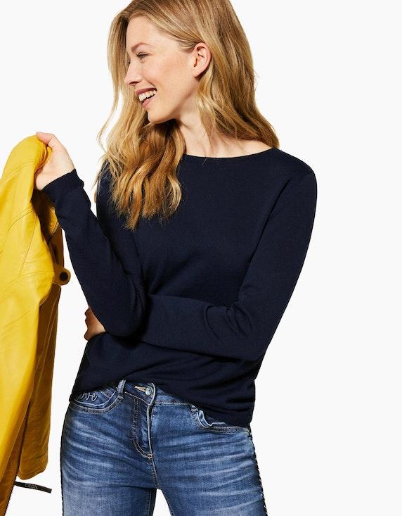 CECIL Basic-Feinstrick-Pullover mit Knopfleiste im Nacken | ADLER Mode Onlineshop