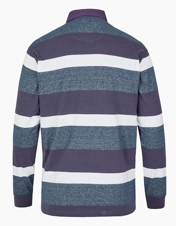 Big Fashion Poloshirt gestreift mit melierter Optik   ADLER Mode Onlineshop