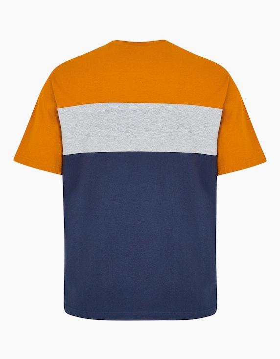 Big Fashion T-Shirt mit Blockstreifen und Print | ADLER Mode Onlineshop