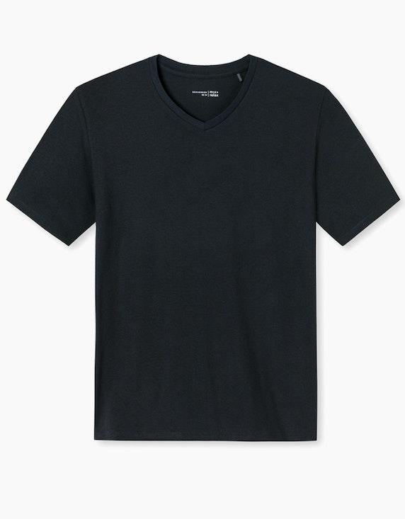 Schiesser Shirt kurzarm mit Knopfleiste | ADLER Mode Onlineshop