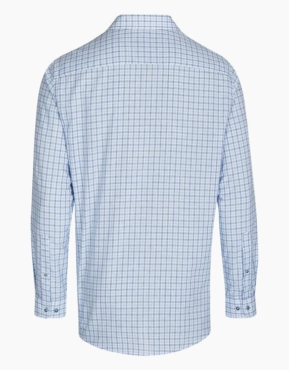 Bexleys man Kariertes Freizeithemd mit Leinenanteil, REGULAR FIT   ADLER Mode Onlineshop