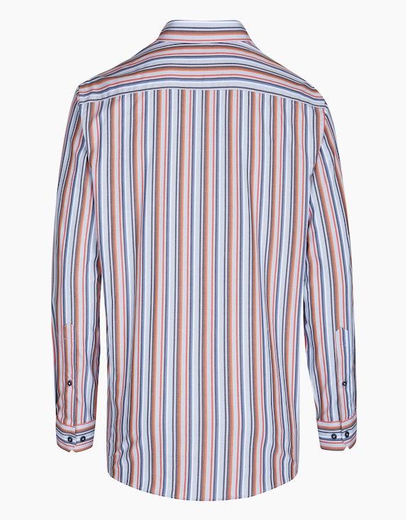 Bexleys man Gestreiftes Freizeithemd in bügelfreier Qualität, REGULAR FIT | ADLER Mode Onlineshop
