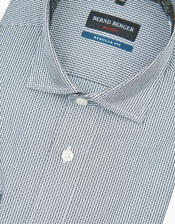 Bernd Berger Gemustertes Dresshemd mit Blumenbesatz, REGULAR FIT | ADLER Mode Onlineshop