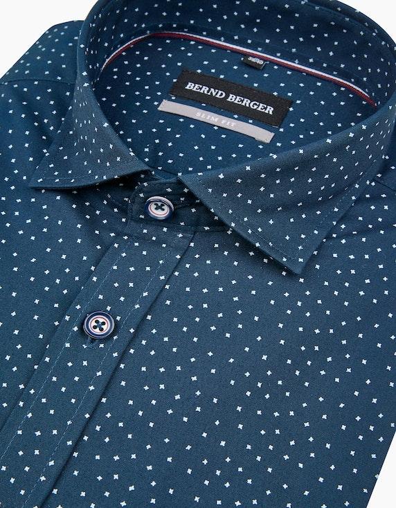 Bernd Berger Fein gepunktetes Dresshemd, SLIM FIT | ADLER Mode Onlineshop
