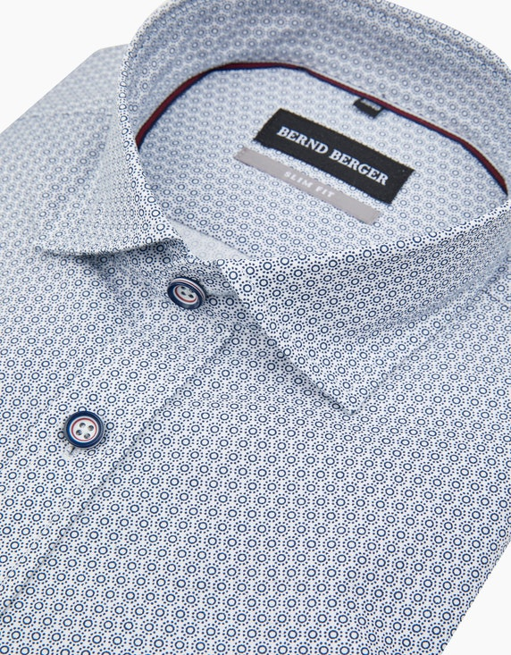Bernd Berger Dresshemd mit Kreisprint, SLIM FIT | ADLER Mode Onlineshop