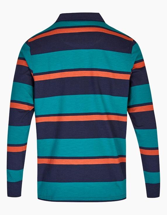 Bexleys man Gestreiftes Langarmpoloshirt   ADLER Mode Onlineshop