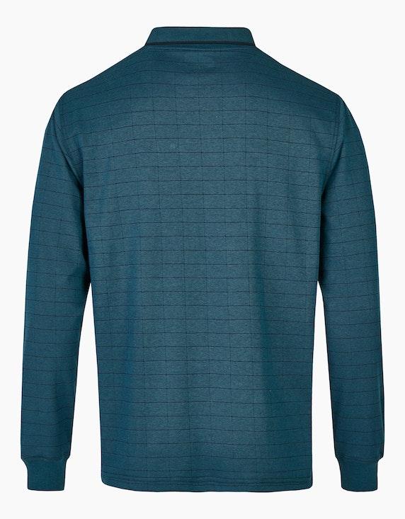 Bexleys man Langarm-Poloshirt in Twotone-Alloverkaro | ADLER Mode Onlineshop