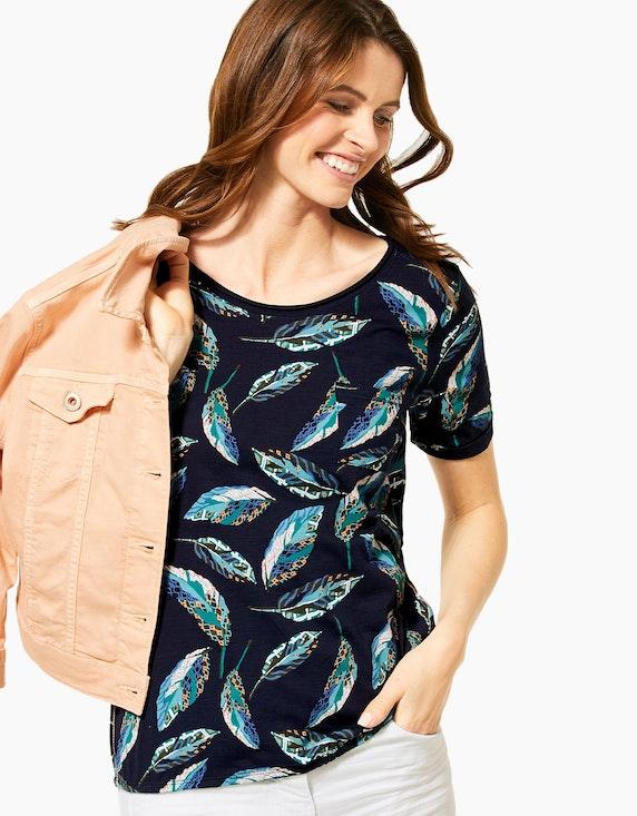 CECIL Shirt mit Blätterdruck und Spitzeneinsatz | ADLER Mode Onlineshop
