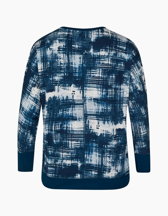 No Secret bedrucktes Langarmshirt mit Paillettenbesatz | ADLER Mode Onlineshop