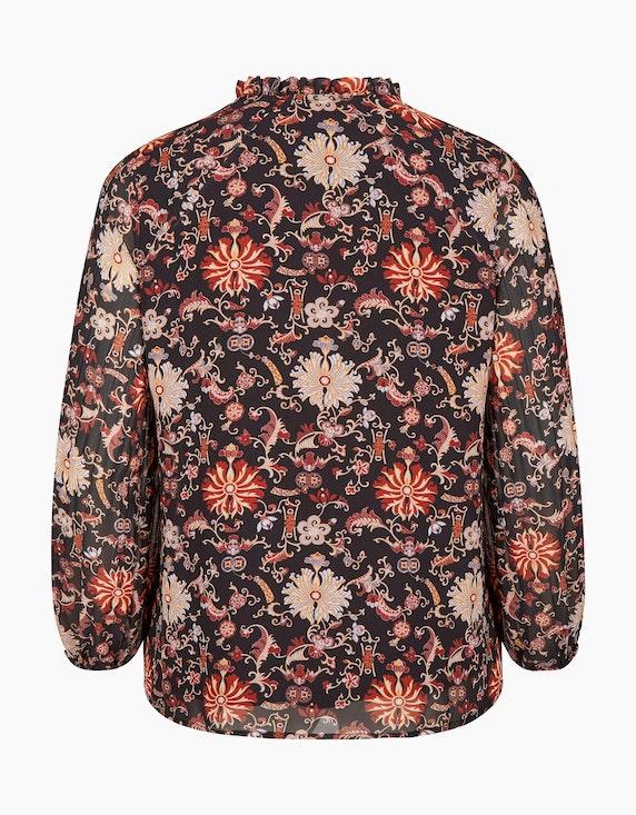 No Secret Shirtbluse im Blumendruck mit Plissee-Ärmel | ADLER Mode Onlineshop