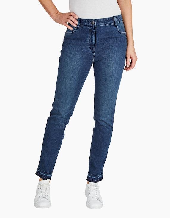 Bexleys woman Jeans mit ausgelassenem Saum   ADLER Mode Onlineshop