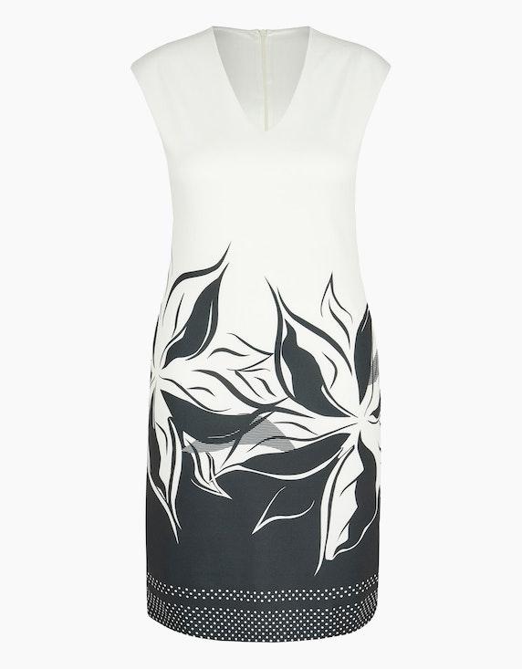 Birgit Schrowange Kollektion Jerseykleid mit Blüten und Tupfen | ADLER Mode Onlineshop
