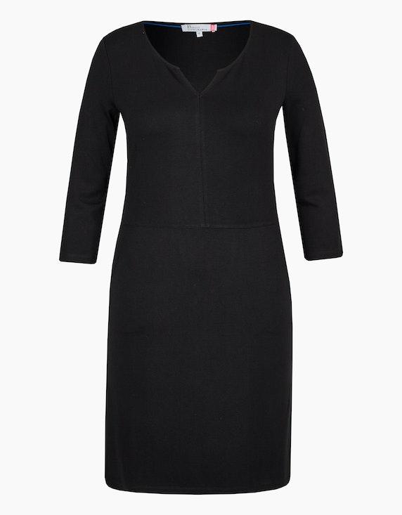 Birgit Schrowange Kollektion Jerseykleid mit Taschen in Schwarz | ADLER Mode Onlineshop