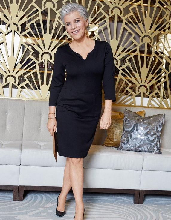 Birgit Schrowange Kollektion Jerseykleid mit Taschen | ADLER Mode Onlineshop