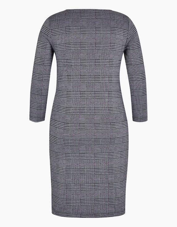Bexleys woman Karo-Kleid aus Jacquard-Jersey   ADLER Mode Onlineshop