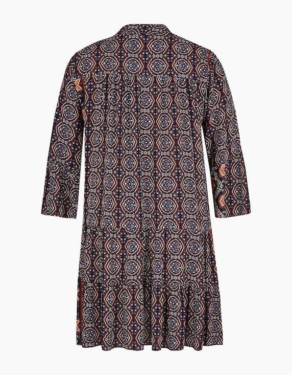 Made in Italy Stufenkleid mit Allover-Print | ADLER Mode Onlineshop
