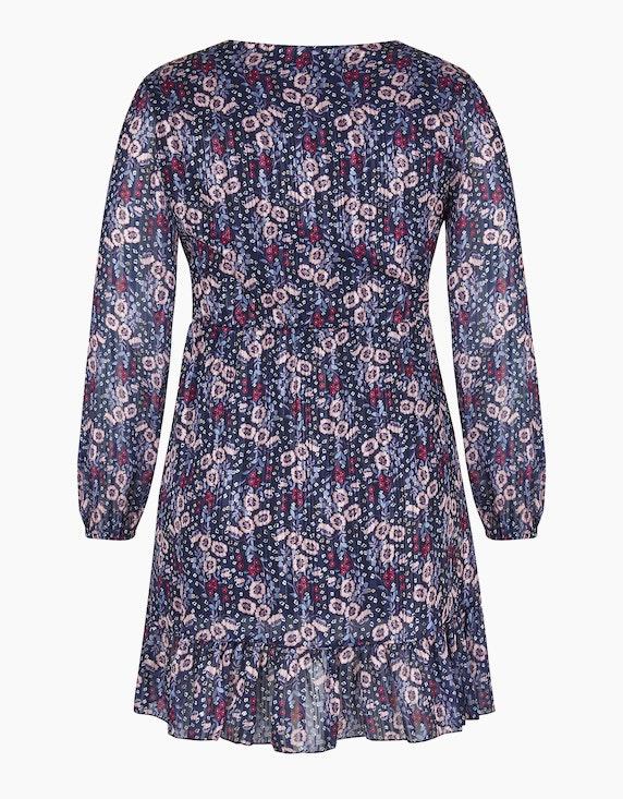 Made in Italy Chiffonkleid mit Blumenprint und Bindegürtel | ADLER Mode Onlineshop