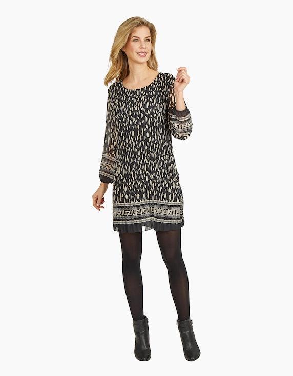 Made in Italy Bedrucktes Plisseekleid in Chiffon-Qualität | ADLER Mode Onlineshop