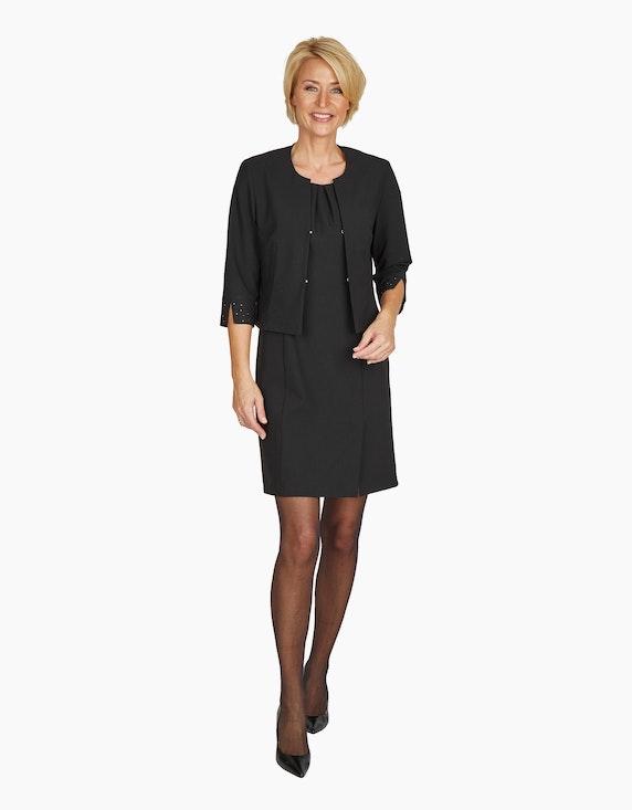 Steilmann Woman Etuikleid mit gelegten Falten am Ausschnitt und Flügelärmeln | ADLER Mode Onlineshop
