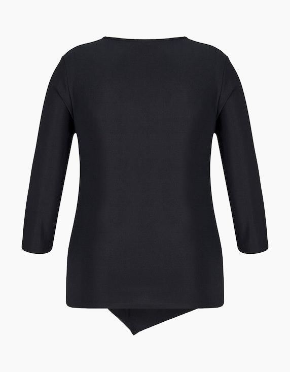 KS. selection Shirt mit Knotendrapierung und Ärmeln in 3/4 Länge | ADLER Mode Onlineshop