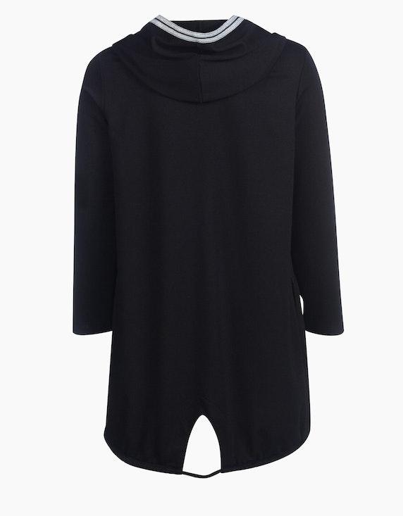 MY OWN lange Jersey-Jacke mit Glitzerstreifen und Kapuze | ADLER Mode Onlineshop