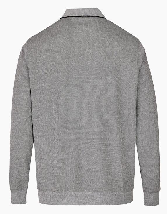 Bexleys man Poloshirt in Langarm mit Allover-Piqué-Struktur | ADLER Mode Onlineshop