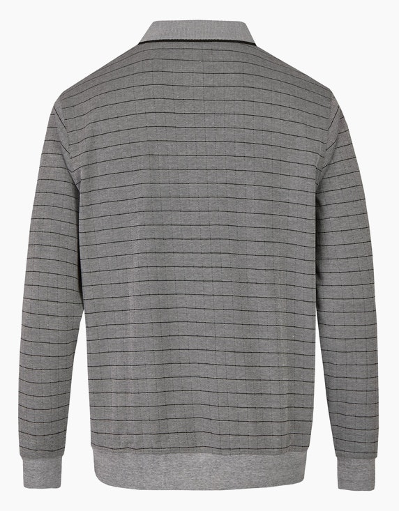 Bexleys man Langarm-Poloshirt  in Twotone-Allover-Kleinkaro | ADLER Mode Onlineshop