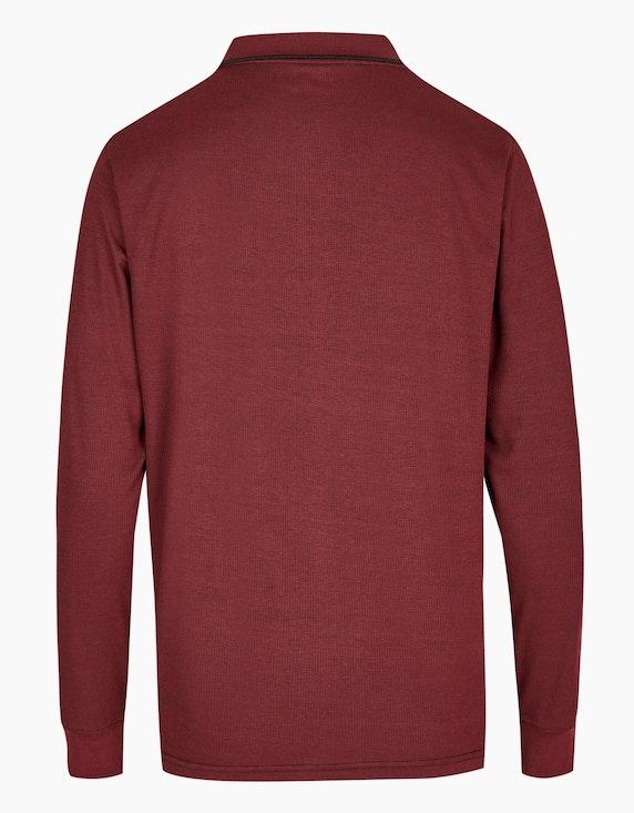 Bexleys man Langarm-Poloshirt in Twotone | ADLER Mode Onlineshop