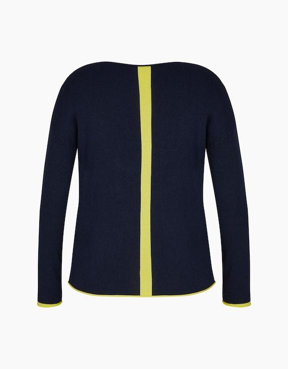 Steilmann Woman Pullover mit Kontrastdetails und V-Ausschnitt | ADLER Mode Onlineshop