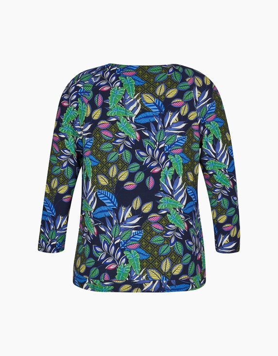 Steilmann Woman Shirt mit Blätterdruck und Raglanärmeln | ADLER Mode Onlineshop