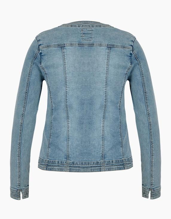 Bexleys woman Jeansjacke mit Perlen am Ausschnitt   ADLER Mode Onlineshop